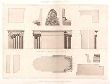 20 ~ MACDEDONIA PALACE IONIC ORDER COLUMNS ~ 1905 Greek Architecture Art Print