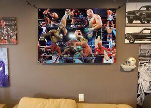 HUGE! 44x31 TYSON FURY vinyl BANNER POSTER  mike tyson Art  MUHAMMAD ALI boxing