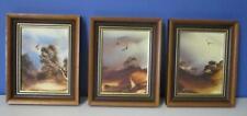 Set of 3 Jim CROFTS (1922-) Framed Original Paintings on Board c1981 Exclnt
