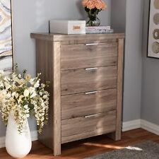4-Drawer Dresser Chest Storage Cabinet Modern Rustic Farmhouse Bedroom Kitchen