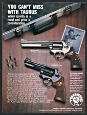 1989 Taurus Model 669 .357 Magnum Stainless and Blue Shown Print Ad