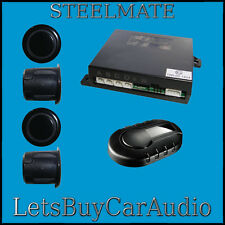 STEELMATE PTS400EX-DP DUAL PURPOSE GLOSS BLACK 4 SENSOR REVERSE PARKING SENSORS