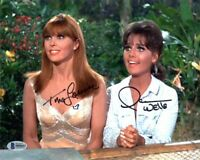 TINA LOUISE DAWN WELLS DUAL SIGNED 8x10 PHOTO GILLIGAN'S ISLAND BECKETT BAS