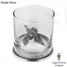 English Pewter Co Glass Tumbler 11oz Pheasant (PHS104)
