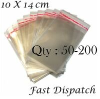 50 - 100 - 200 Cellophane Bags 10 X 14 cm Clear Cello Party Display Gift Packing