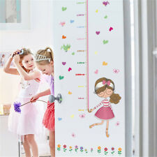 Cartoon Girl Height Room Home Decor Removable Wall Sticker Decal Decoration