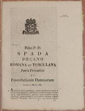 SENTENZA SACRA ROTA ROMA LAZIO OLIO LAVATO MOLAJONI MARVALDI GROTTAFERRATA 1834