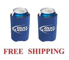 BUD LIGHT 2 BEER CAN WRAP COOLERS KOOZIE COOLIE HUGIE NEW BUDWEISER