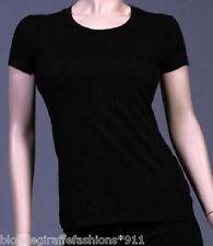 Black Cap Sleeve Pocket Cotton Tee/T-Shirt Top S