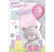 Daughter's Cute 1st Birthday Card For An Adorable Daughter Lots & Lots of love