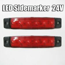 2 24V LED ROSSO LUCI LATO POSIZIONE Indicatore Frecce Camion Rimorchio