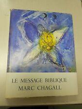 Le Message Biblique: Marc Chagall Original Lithograph!!!