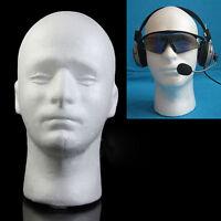 Male Styrofoam Foam Mannequin Manikin Head Model Wig Glasses Hat Display Stand T