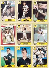 1987-88-89-90 Topps Pirates master team sets with traded Mint razor sharp