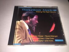 Thelonious Monk Making The Right Moves Cd Jazz
