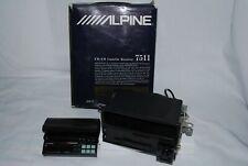 Vintage Alpine 7511 Cassette Car Stereo Faceplate High Power 4 Speaker Output