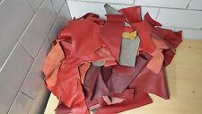 LEDER Lederreste Bastelleder Reste  versch. Rot Töne  gemischt   ca. 6,8 Kg R121