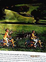 "1965 Honda Trial 90 Through The Cow Pasture Original Print Ad 8.5 x 11"""
