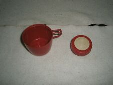 Vintage school Thermos red Cup and Stopper 1960's