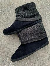 AIRWALK Sock Top Bedroom Black Dark Gray Booties Comfort Shoes Sz 9 10 ❤️sj18m1