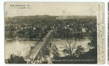 RPPC Trolley Bridge NEW BRIGHTON PA Beaver County Real Photo Postcard