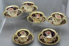 SET 6 EARLY WORCESTER CUP AND SAUCERS C.1840