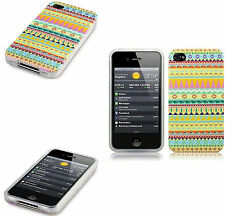 For Apple iPhone 4/4S Yellow Totally Tribal Aztec TPU Silicone Gel Case Cover
