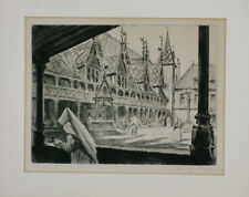 Lot gravures Hospices de Beaune Henry Cheffer Côte d'Or