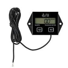 Black Digital Tach Hour Meter Tachometer Gauge For Dirt Bike ATV UTV Gas Engines