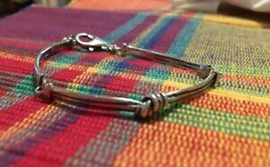 Silpada Oxidized Sterling Silver Love Knot Link Bracelet B2826 Israel