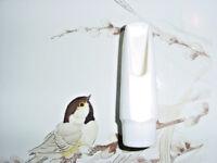 VINTAGE CLASSIC WHITE PLASTIC ALTO SAX MOUTHPIECE