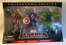 Marvel Legends Collectors Edition 3 Pack Ms. Marvel Cpt. America Radioactive man
