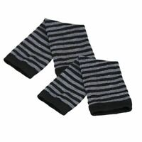 Women Gloves Striped Arm Warmer Wrist Fingerless Knitted Winter Warm Long Mitten