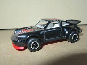 116Q Majorette No 209 France Porsche 911 Turbo Black 1:57