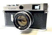 DHL [N MINT] Canon P Rangefinder Film Camera + 50mm f1.8 L39 LTM Lens From JAPAN