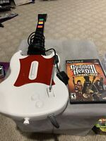 PlayStation 2 RedOctane Wired SG Controller White W/ Guitar Hero 3 Game - Tested