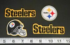 Pittsburg Steelers NFL Team Fabric Iron On Applique Patch NO SEW Logo DIY Craft