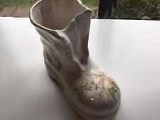 Classic Ceramics Stoke On Trent Flower Decorated Boot