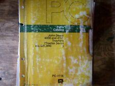 John Deere 4000 4020 Tractor Parts Catalog Manual Original Pc-1116 S/N 201000-Up