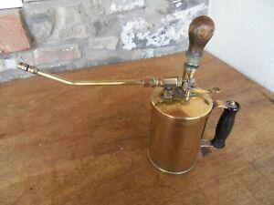 Vintage Brass Plant Pressure Hand Sprayer .