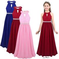 Kinder Mädchen Prinzessin Kleid Chiffon Spitzen Blumenmädchenkleid Festkleider