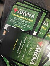 5x MTG Magic Arena Code Booster Rinascita di Zendikar Rising MTGA promopack