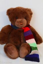 "Lord & Taylor 18"" Gund Teddy Bear Plush Toy Doll in Striped Scarf 2000"