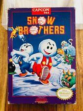 Snow Brothers Bros CAPCOM VERY RARE Nintendo NES Box Only