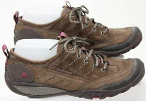 Merrell Mimosa Lace Stone Shoes Womens Size 8.5 Hiking Boots Dusty Brown Pink