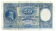 Lithuania Lietuvas Bankas 50 Litu 1928 VF