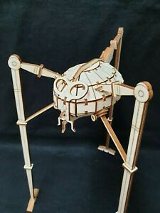 War Of The Worlds Tripod by HG Wells Wooden Laser Cut Model/Puzzle Kit