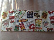 "80s Balloon Kitchen Valance Curtain Panels Reversible 66""X14"" Retro"