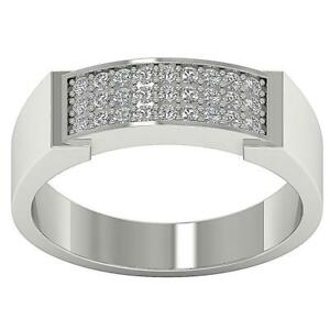 SI1 G 0.35Ct Natural Round Diamond c Engagement Ring Pave Set 14K Solid Gold