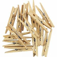 30x Wooden Spring Loaded Washing Line Clothes Pegs,Rotary Air Dryer Wooden Pegs